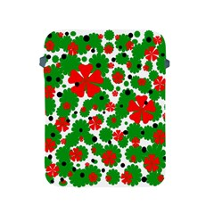Red and green Christmas design  Apple iPad 2/3/4 Protective Soft Cases