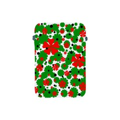 Red and green Christmas design  Apple iPad Mini Protective Soft Cases
