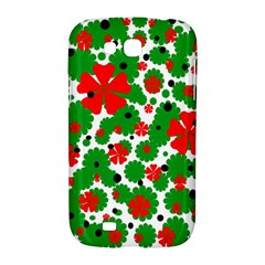 Red and green Christmas design  Samsung Galaxy Grand GT-I9128 Hardshell Case