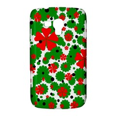 Red and green Christmas design  Samsung Galaxy Duos I8262 Hardshell Case