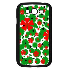 Red and green Christmas design  Samsung Galaxy Grand DUOS I9082 Case (Black)