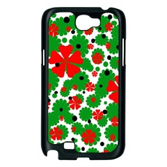 Red and green Christmas design  Samsung Galaxy Note 2 Case (Black)
