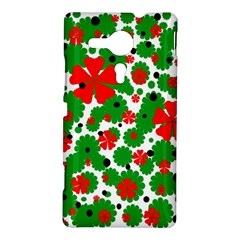 Red and green Christmas design  Sony Xperia SP