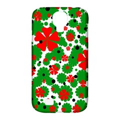 Red and green Christmas design  Samsung Galaxy S4 Classic Hardshell Case (PC+Silicone)