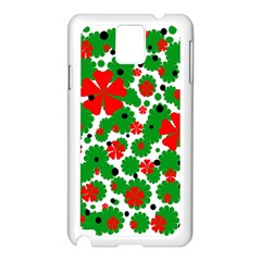 Red and green Christmas design  Samsung Galaxy Note 3 N9005 Case (White)