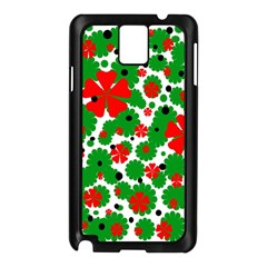 Red and green Christmas design  Samsung Galaxy Note 3 N9005 Case (Black)