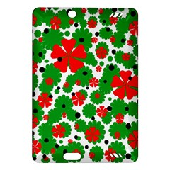 Red and green Christmas design  Amazon Kindle Fire HD (2013) Hardshell Case