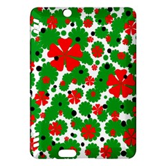 Red and green Christmas design  Kindle Fire HDX Hardshell Case
