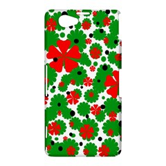 Red and green Christmas design  Sony Xperia Z1 Compact