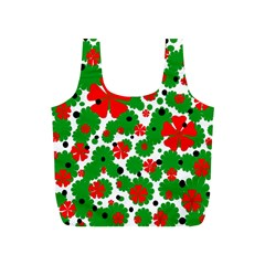Red and green Christmas design  Full Print Recycle Bags (S)