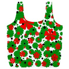 Red and green Christmas design  Full Print Recycle Bags (L)