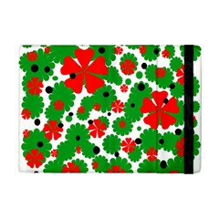 Red and green Christmas design  iPad Mini 2 Flip Cases