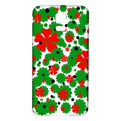 Red and green Christmas design  Samsung Galaxy S5 Back Case (White)
