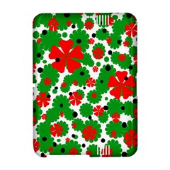 Red and green Christmas design  Amazon Kindle Fire (2012) Hardshell Case