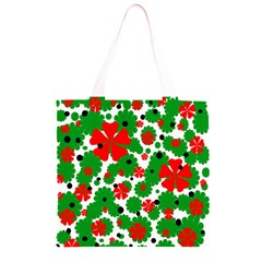 Red and green Christmas design  Grocery Light Tote Bag