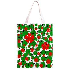 Red and green Christmas design  Classic Light Tote Bag