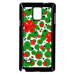 Red and green Christmas design  Samsung Galaxy Note 4 Case (Black)