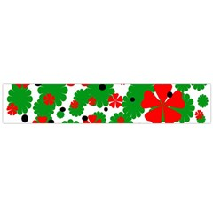 Red and green Christmas design  Flano Scarf (Large)