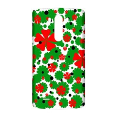 Red and green Christmas design  LG G3 Back Case