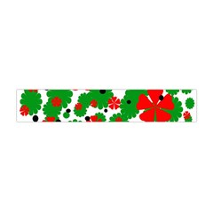 Red and green Christmas design  Flano Scarf (Mini)