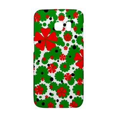 Red and green Christmas design  Galaxy S6 Edge