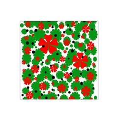Red and green Christmas design  Satin Bandana Scarf