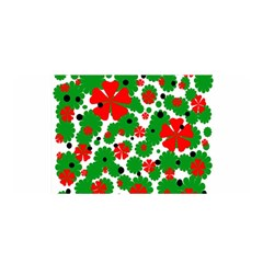 Red and green Christmas design  Satin Wrap
