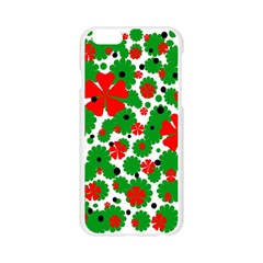 Red and green Christmas design  Apple Seamless iPhone 6/6S Case (Transparent)