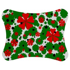 Red and green Christmas design  Jigsaw Puzzle Photo Stand (Bow)