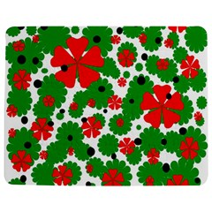 Red and green Christmas design  Jigsaw Puzzle Photo Stand (Rectangular)