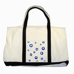 Mediterranean blue eyes Two Tone Tote Bag