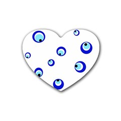 Mediterranean blue eyes Heart Coaster (4 pack)
