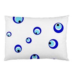 Mediterranean blue eyes Pillow Case