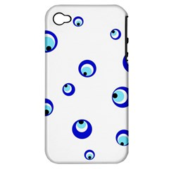 Mediterranean blue eyes Apple iPhone 4/4S Hardshell Case (PC+Silicone)