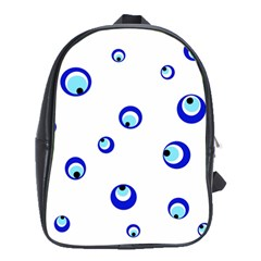 Mediterranean blue eyes School Bags (XL)