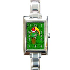 Toucan Rectangle Italian Charm Watch