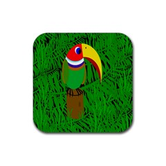 Toucan Rubber Square Coaster (4 pack)