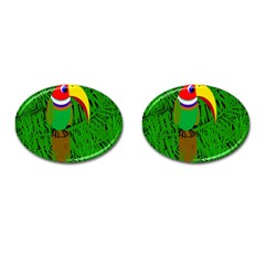 Toucan Cufflinks (oval)