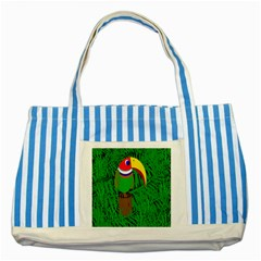Toucan Striped Blue Tote Bag