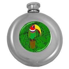 Toucan Round Hip Flask (5 oz)
