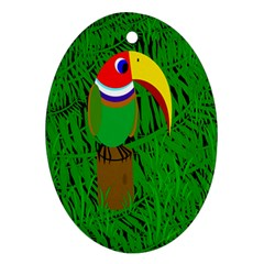 Toucan Oval Ornament (Two Sides)