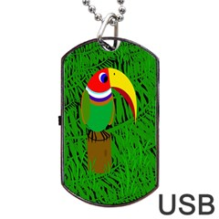 Toucan Dog Tag USB Flash (One Side)