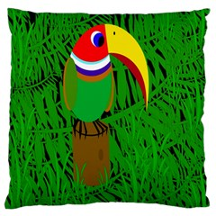 Toucan Large Cushion Case (Two Sides)