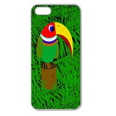 Toucan Apple Seamless iPhone 5 Case (Clear)