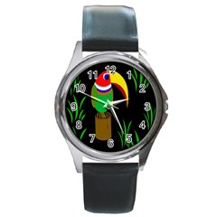 Toucan Round Metal Watch