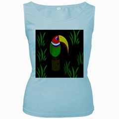 Toucan Women s Baby Blue Tank Top