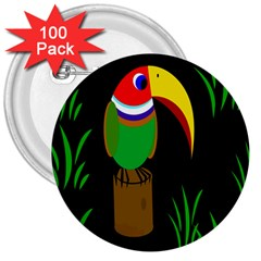 Toucan 3  Buttons (100 Pack)