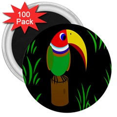 Toucan 3  Magnets (100 pack)