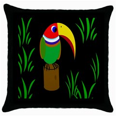 Toucan Throw Pillow Case (Black)