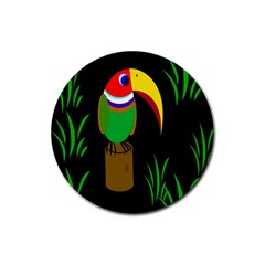 Toucan Rubber Round Coaster (4 pack)